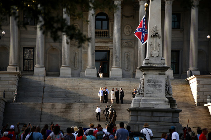 the controversies surrounding the confederate flag atop the statehouse of south carolina