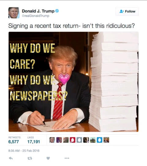 Trumps Taxes, Why Do We Care? And Why Are Newspapers